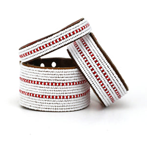Red Dashes Cuff