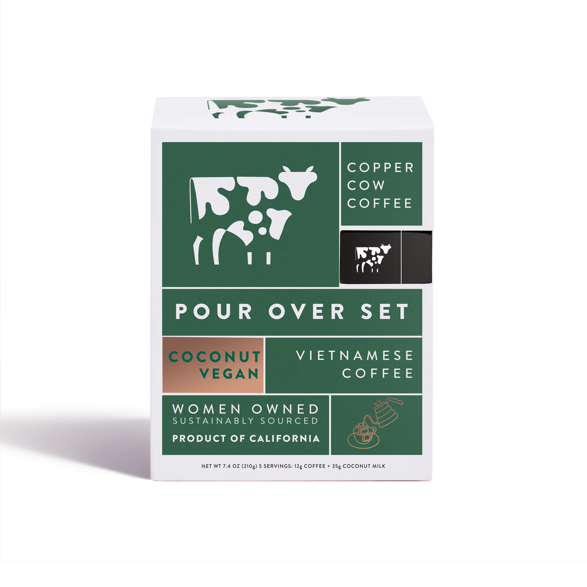 Copper Cow Coffee - Coconut Latte | 5-Pack
