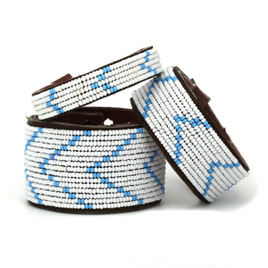 Light Blue Chevron Cuff