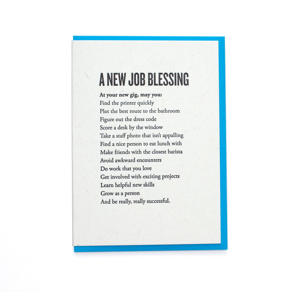 A New Job Blessing Card