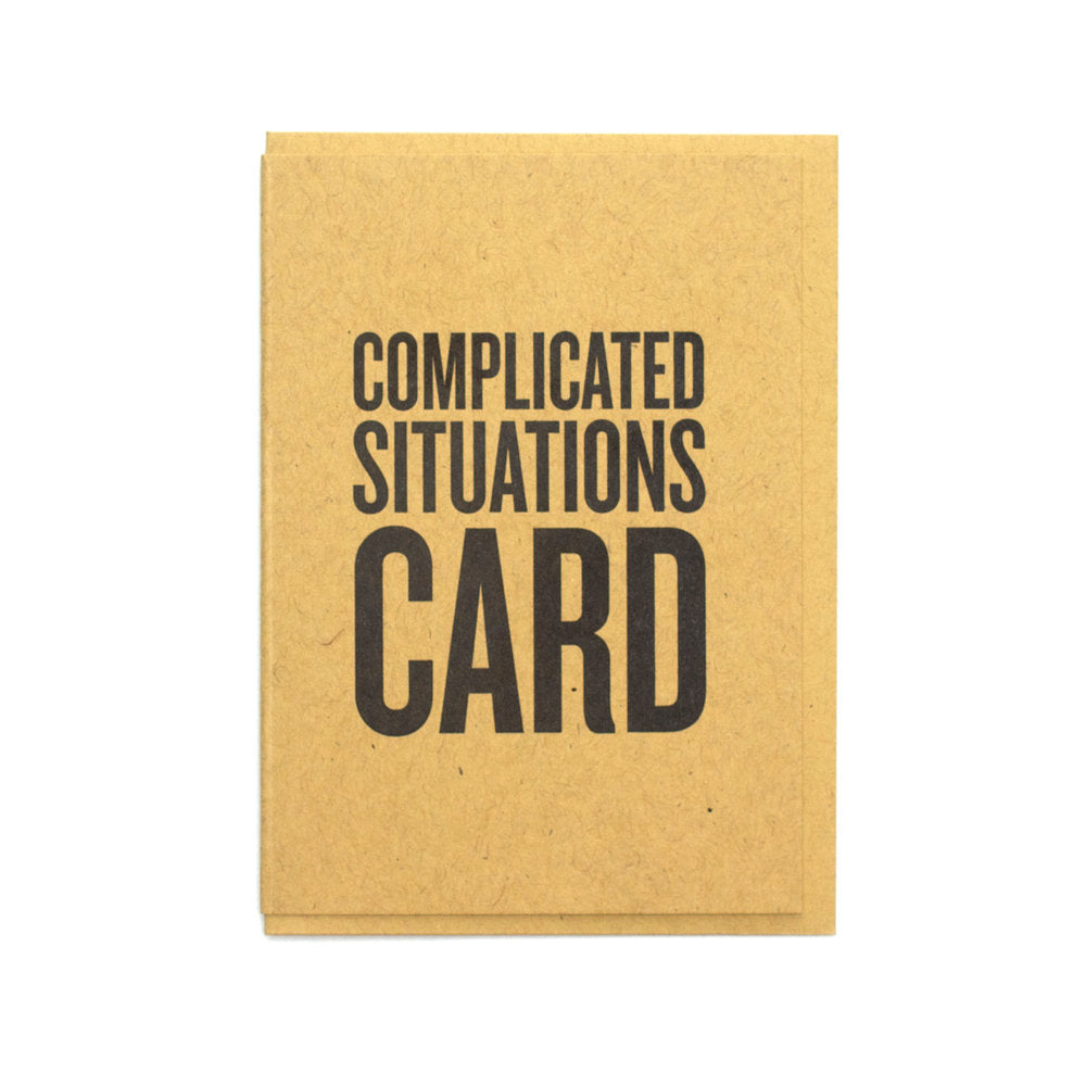 Complicated Situations Card