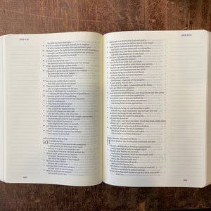 Leather Single Column ESV Bible
