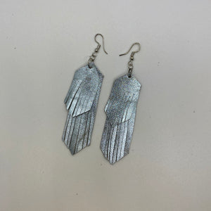 Thin Two Layer Fringe Earrings
