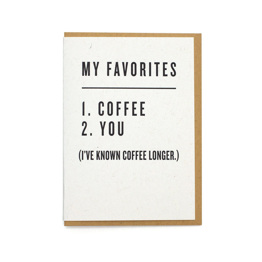 My Favorites - Coffee & You Card