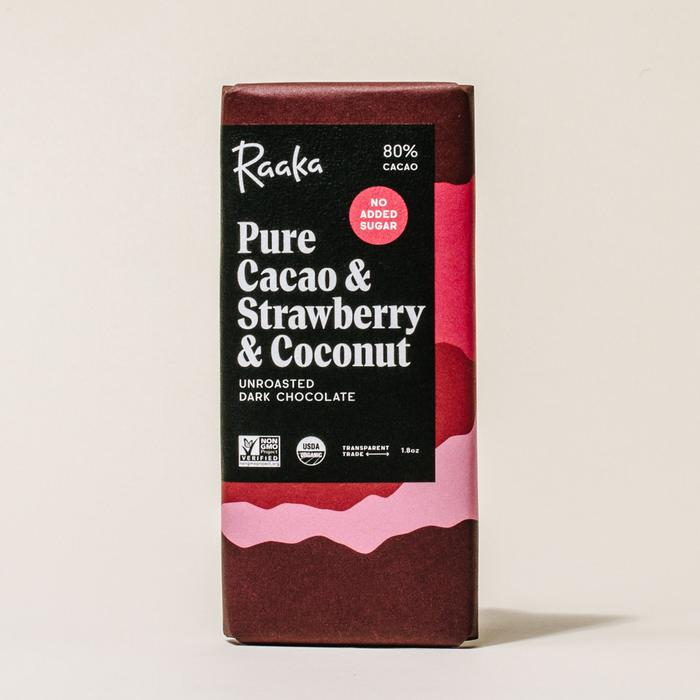 Pure Cacao, Strawberry, & Coconut Chocolate Bar