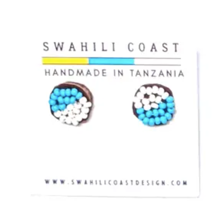 Swahili Beaded Studs - Summer