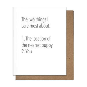 Puppies and You Love Card