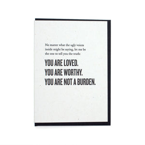 You Are Not A Burden Card