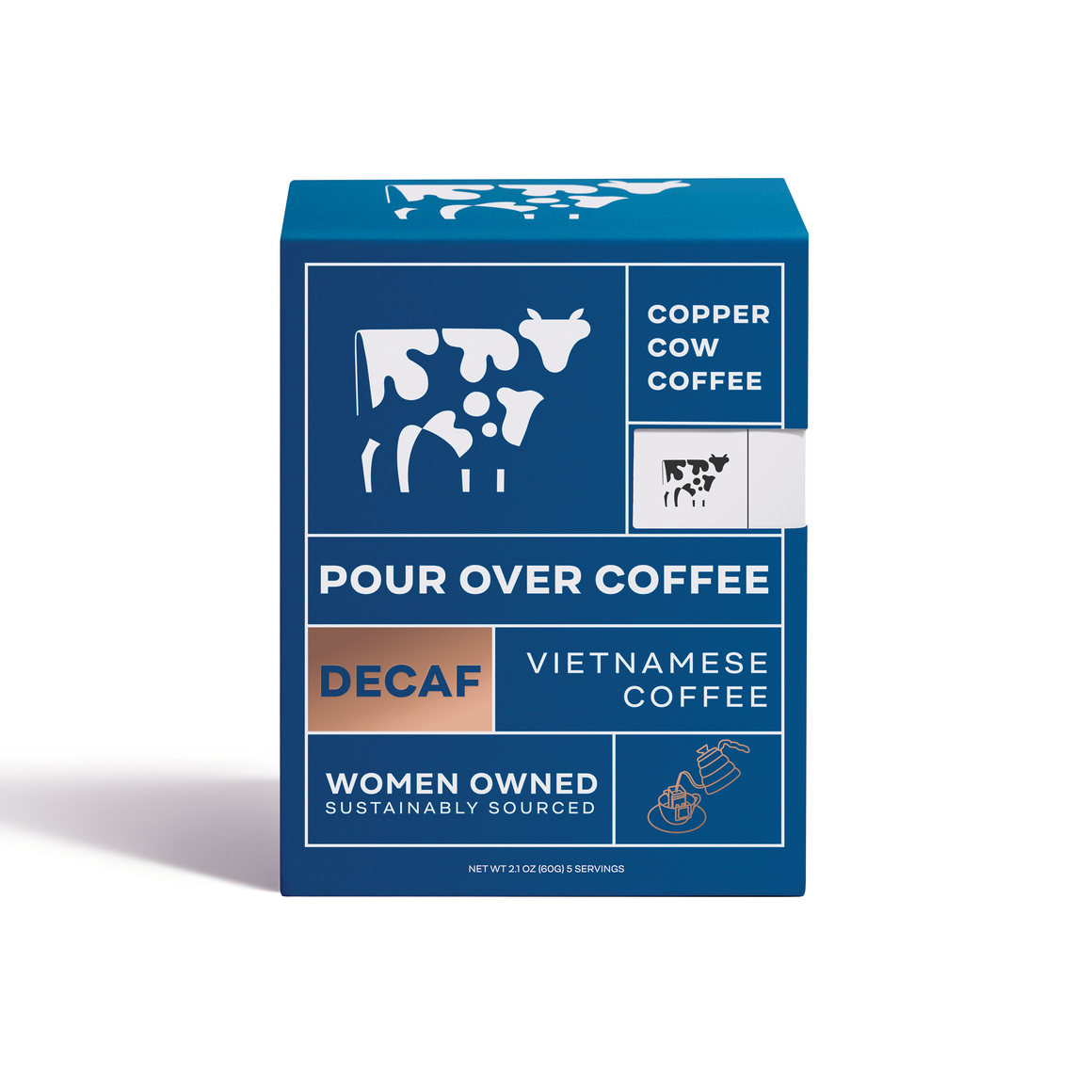 Copper Cow Just Black Decaf | 5-Pack