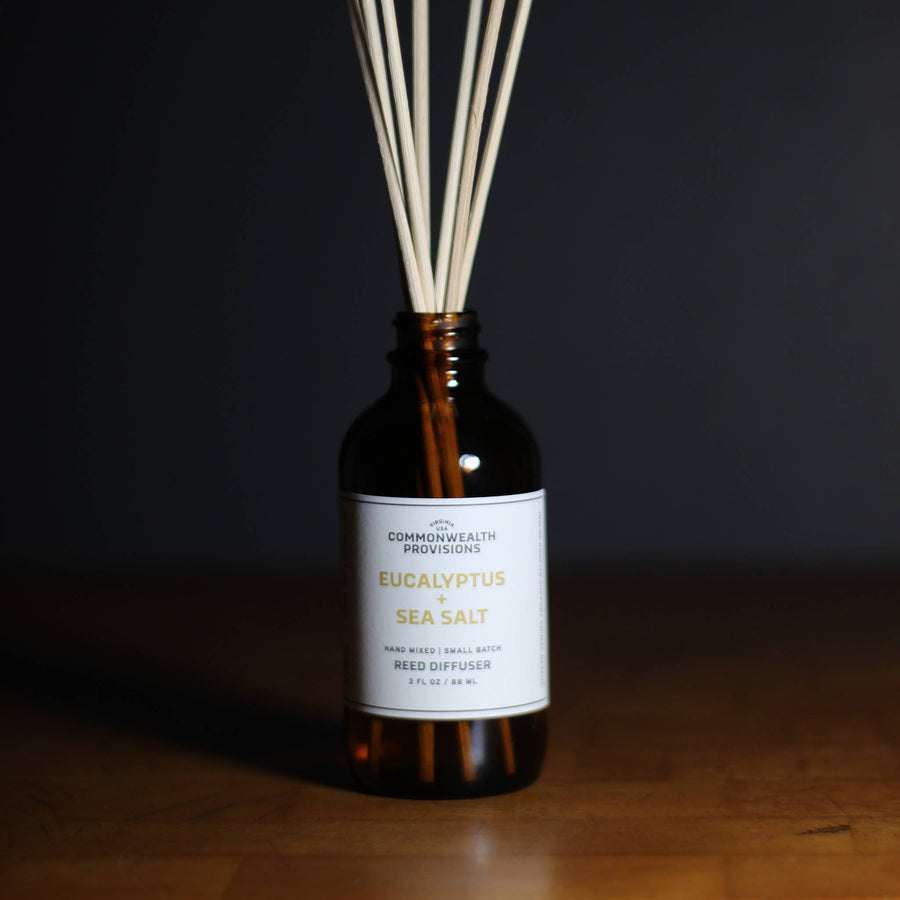 Commonwealth Provisions Reed Diffuser - Eucalyptus + Sea Salt