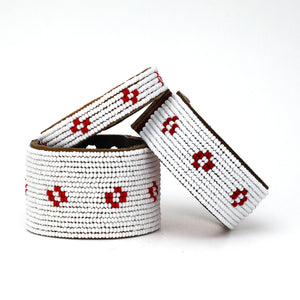 Red & White Diamond Cuff