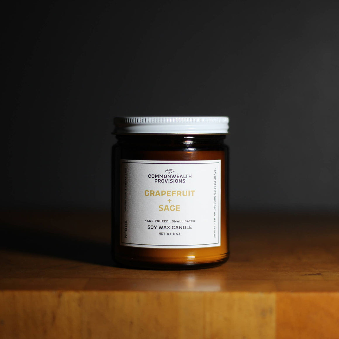 Commonwealth Provisions Soy Candle - Grapefruit + Sage