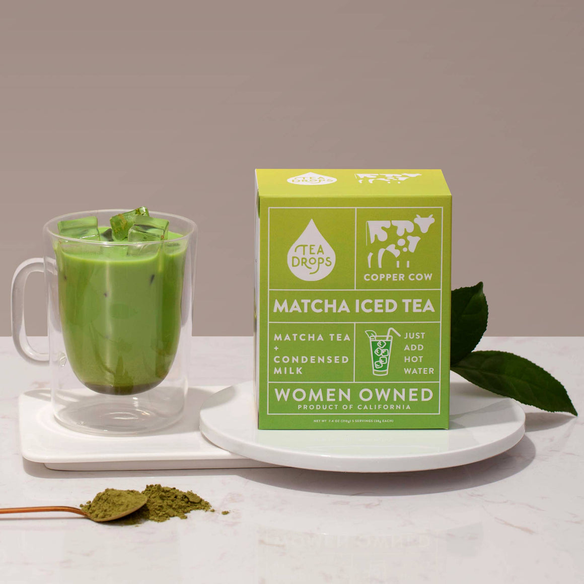 Tea Drops Matcha Iced Latte Kit