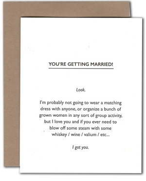 Marriage Honesty Card