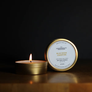 Commonwealth Provisions Travel Candle - Blue Ridge Campfire
