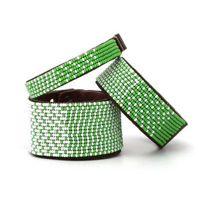 Green & White Ombre Cuff