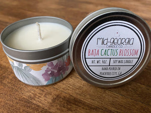 Mid-Georgia Candle Co. Baja Cactus Blossom 4 oz Candle Tin