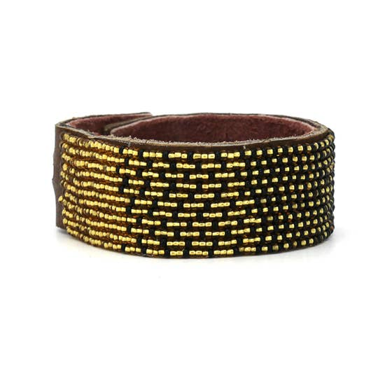 Black and Gold Ombre Cuff