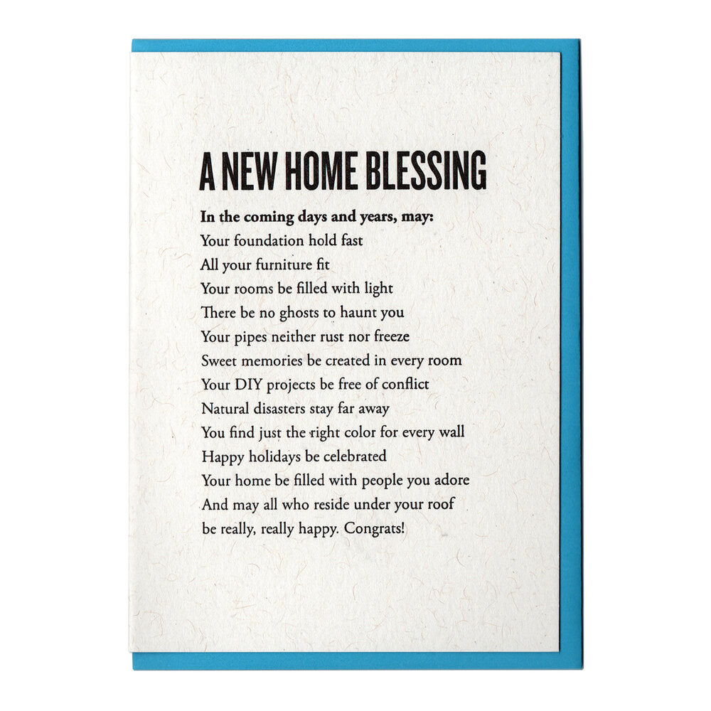 A New Home Blessing Card