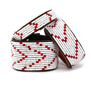Red & White Chevron Cuff