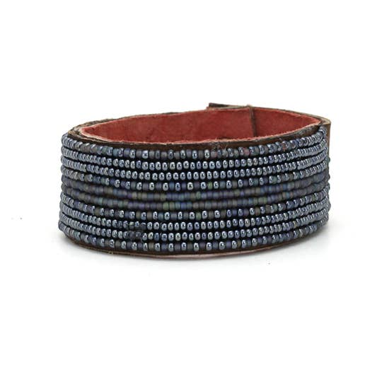 Slate & Grey Stripe Cuff