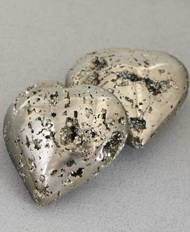 Pyrite Gemstone Heart