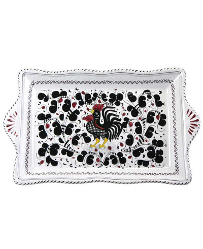 Ceramic Hand Painted Rooster Tray, Italy