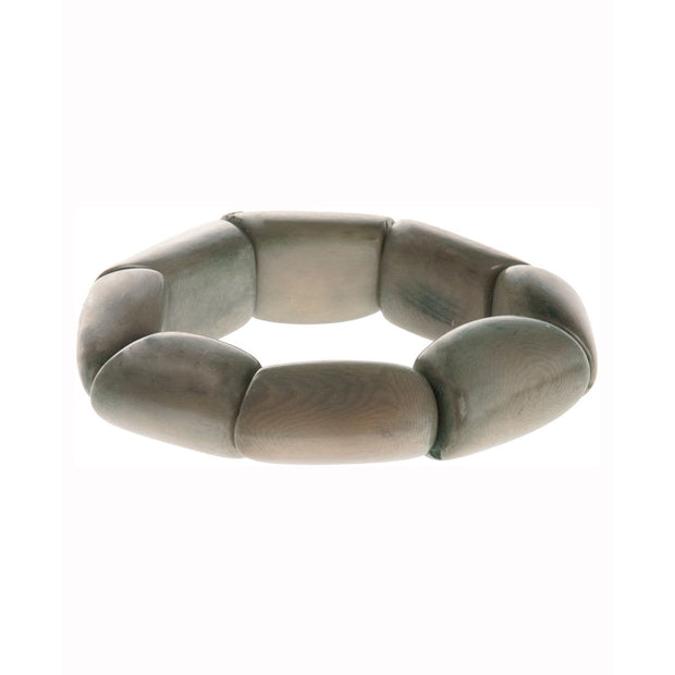 Tagua Stretch Bracelet, Soft Gray Green