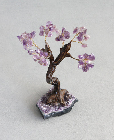 Amethyst Gemstone Bonsai Tree