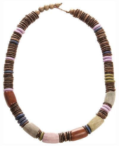 Multicolor Tagua and Coconut Beaded Necklace