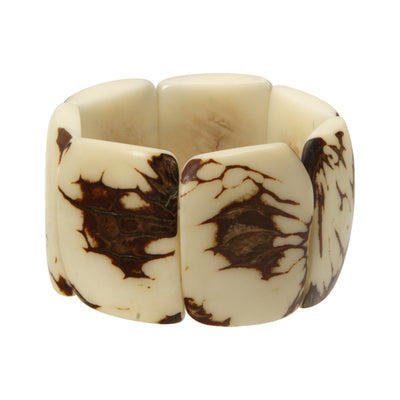 Classic Natural Tagua Stretch Bracelet