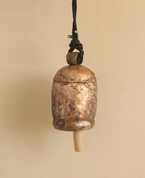 Fair-trade and Handmade Large Decorative Cowbell With a Soothing Tone