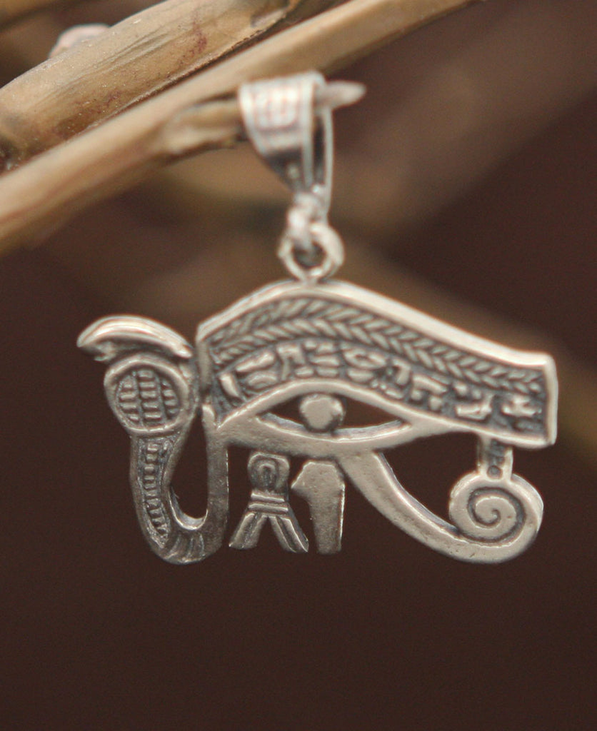 Udjat Eye of Horus Sterling Silver Pendant