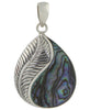 Indonesian Feather Pendant with Abalone Shell