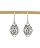 Sterling Silver Balinese Princess Earrings with Blue Topaz