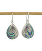 Indonesian Feather Earrings with Abalone Shell