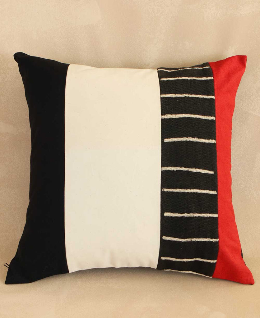 Striped African Mud Cloth Pillow Cover