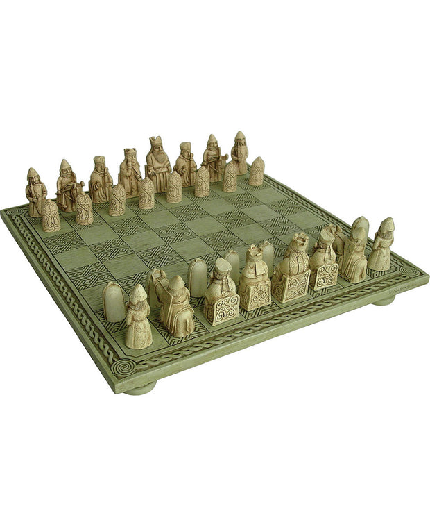 Isle of Lewis Celtic Chess Set and Board