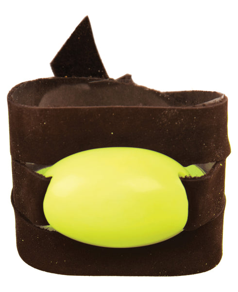 Suede Leather Wrap Bracelet with Tagua Accent, Lime