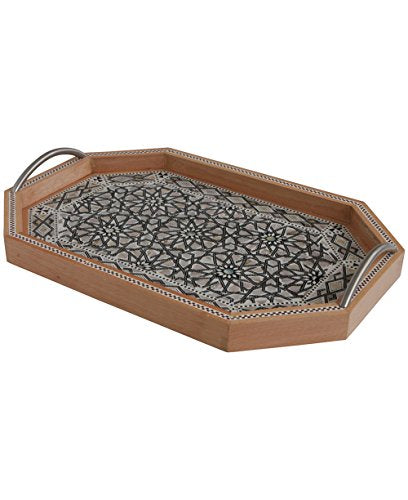 Egyptian Mosaic Serving Tray with Mother of Pearl