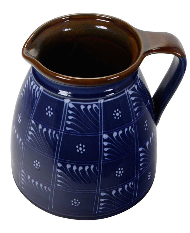 Hungarian Hand-painted Blue Water Pitcher