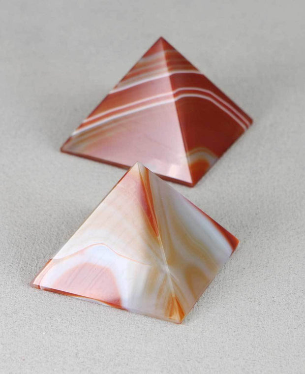 Agate Stone Pyramid, Gemstone Accent and Paperweight