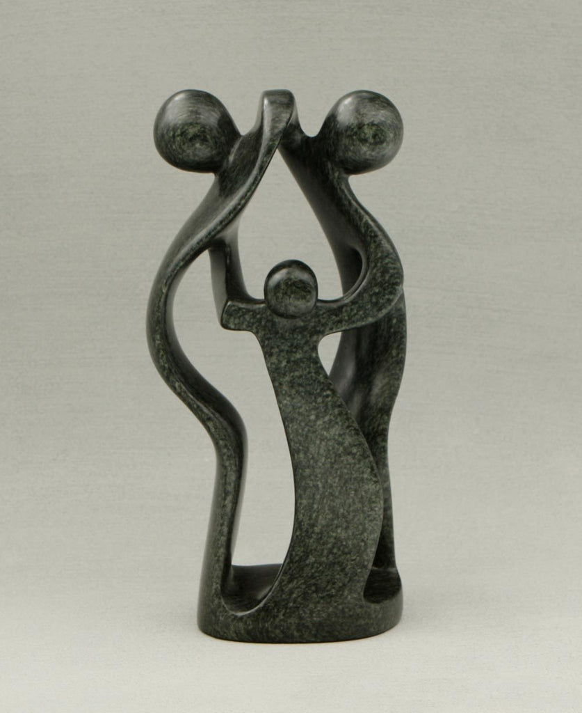 Fair Trade African Soapstone Family Statue