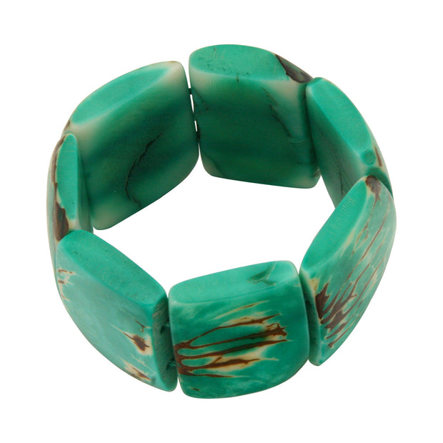Classic Tagua Green Stretch Bracelet