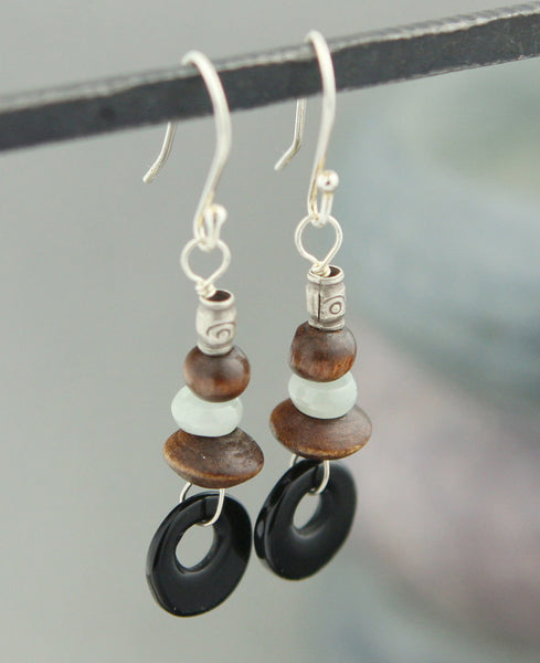 Geometric Gemstone Earrings