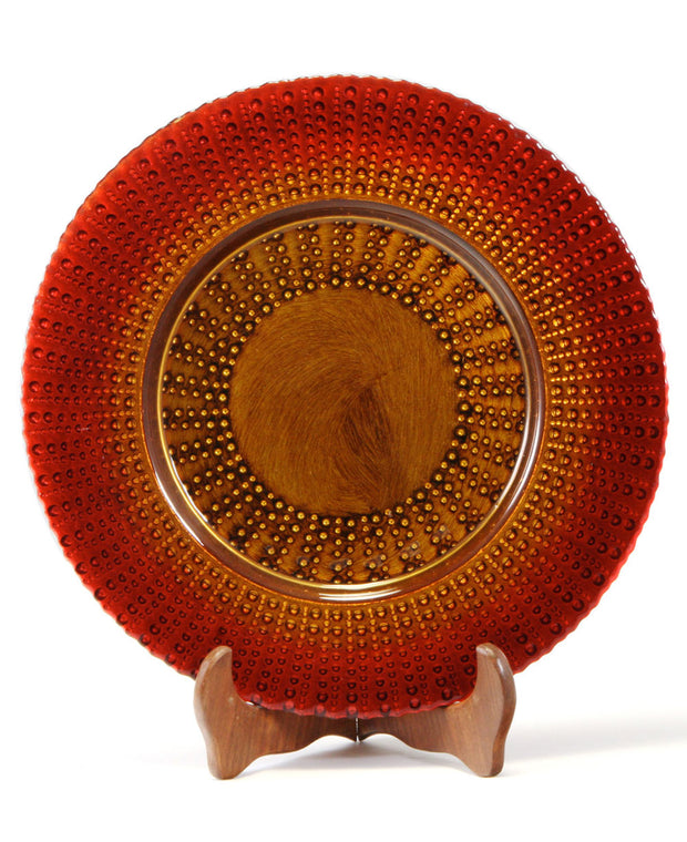 Turkish Beaded Red Charger Plate