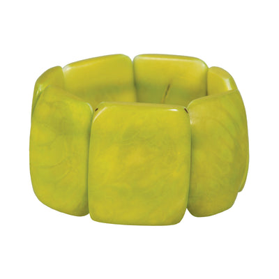 Polished Tagua Bracelet, Lime