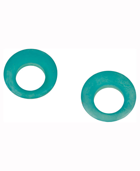Fairtrade Tagua Circle Earrings, Aqua