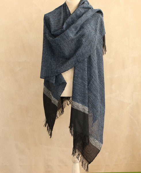 Fair Trade Woven Cielo Wrap in Midnight