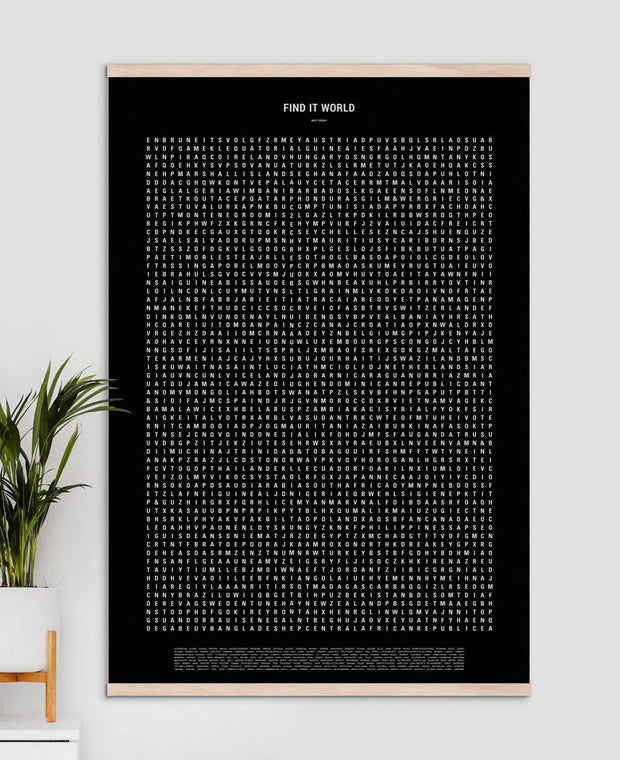 Find It! Word Search Travel Poster, Estonia